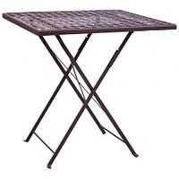 Стол садовый складной Бретань столешница металлическая сетка Какао 700*700 мм (AMF-ТМ)
