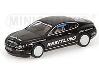 BENTLEY CONTINENTAL GT - WORLD RECORD CAR ON ICE - 2007 - 321 KM/H. 1/43 MINICHAMPS 436139026