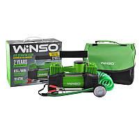 Автокомпрессор Winso 10атм, 85л/мин, 2 цилиндра 360Вт, кабель 3м, шланг 5,7м, спускной клапан