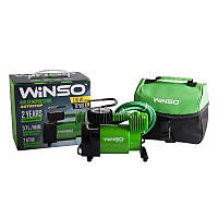Автокомпрессор WINSO 7атм, 37л/мин, 170Вт, кабель 3м, шланг 1м, Автостоп