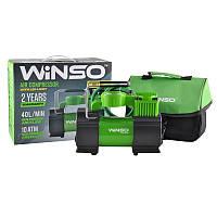 Автокомпрессор WINSO 10атм, 40л/мин, 180Вт, кабель 3м, шланг 1м, LED-фонарик, спускной клапан