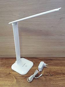 Светодиодная настольная лампа 9W 4000K белая, 3 уровня яркости, dimmer