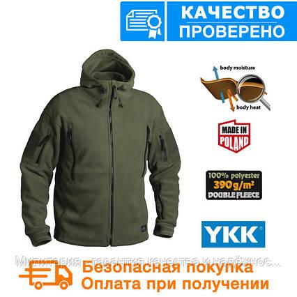 Флисовая кофта с капюшоном Helikon-Tex Patriot Heavy Fleece Jacket-Olive Green S, M, L, XL, XXL, 3XL/regular, фото 2