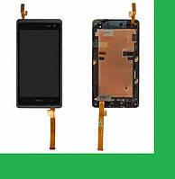 HTC Desire 600, Desire 606w Dual Sim Дисплей+тачскрин(сенсор) в рамке черный