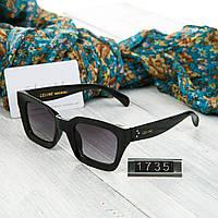 Женские брендовые очки Celine Селин квадратные черные