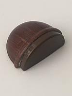 Самоклеящиеся дверные ограничители стопперы для дверей деревянный (тёмный орех)