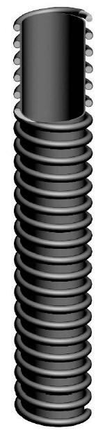 Всасывающий шланг для опилок, вентиляции ПВХ, —15°С/+60°С,  1461