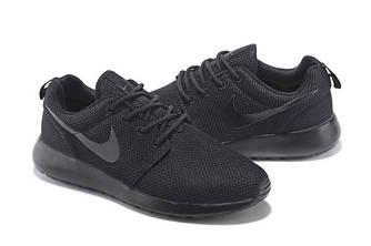 Кроссовки Nike Roshe Run Black Черные женские