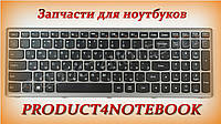 Клавиатура для ноутбука LENOVO (IdeaPad: P500, Z500) rus, black, silver frame