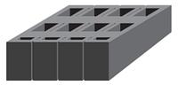 Блок керамзитобетонный модульный