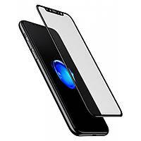 Защитное стекло BASEUS для iPhone X/XS, 0.3 mm, 4D, черное, супер качество!