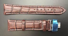 Ремешок для часов Longines кожа (серебро/золото)