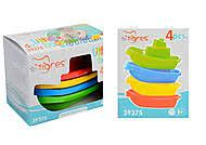 Для ванной набор корабликов кораблики пластик, Тигрес 39375, 007101