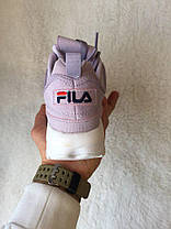 Кроссовки женские Fila Disruptor II Leather Violet/White топ реплика, фото 2