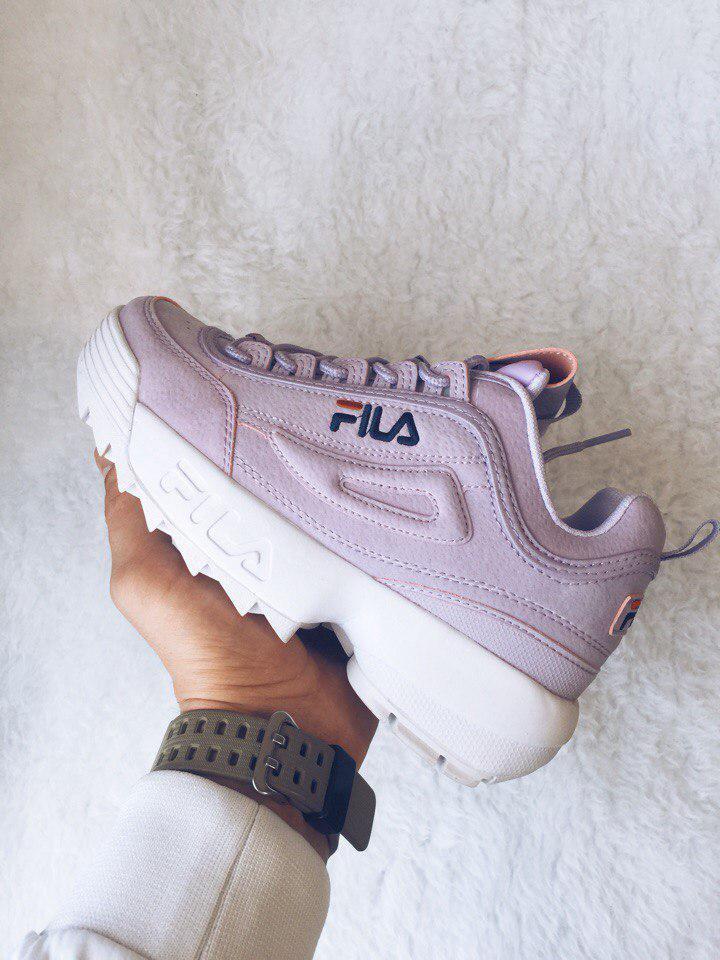 270cfd8cd93c Кроссовки женские Fila Disruptor II Leather Violet White топ реплика -  Интернет-магазин обуви