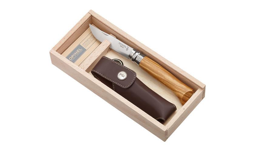 Ніж Slim Olive opak + etui No.08 001004( ніж філе 8 оливка +чохол в подарунковій упаковці)