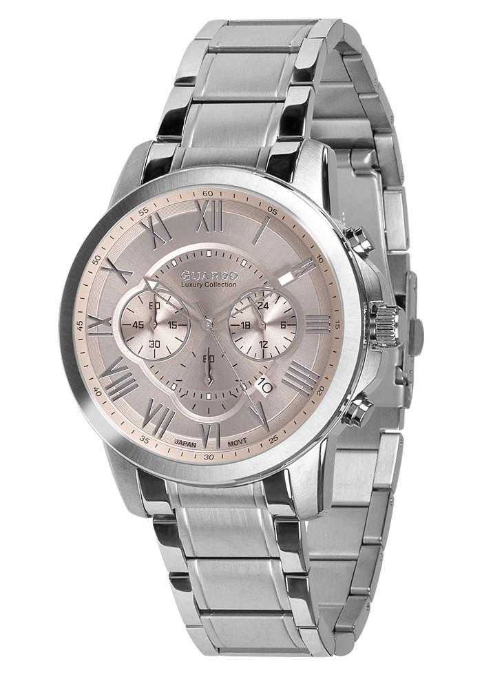 Чоловічі наручні годинники Guardo S01143(m) SGr