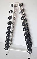 Гантельный ряд от 1 до 10 кг PROFI со стойкой