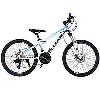 """Детский велосипед Titan Flash 24"""" бело-голубой, фото 1"""