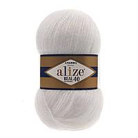 Alize Angora real 40 - 55 белый