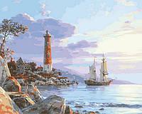 Раскраска по номерам К далеким берегам (VP852) 40 х 50 см