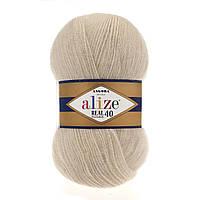 Alize Angora real 40 - 67 молочно-бежевый