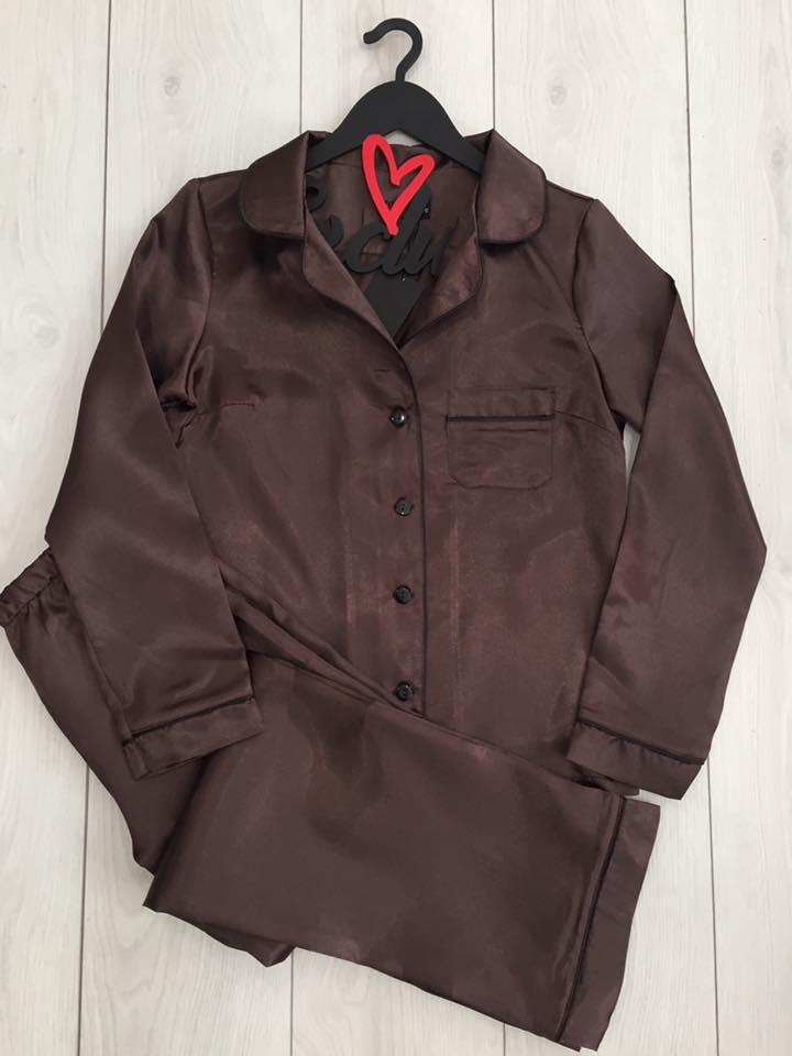 Шоколадный домашний комплект ТМExclusive: рубашка и штаны.