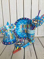 Набор праздничной одноразовой посуды на 6 персон Happy Party , фото 1