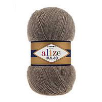Alize Angora real 40 - 553 коричневый меланж