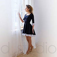 Трикотажное асиметричное платье