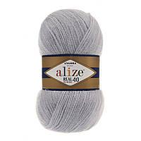 Alize Angora real 40 - 52 светло-серый
