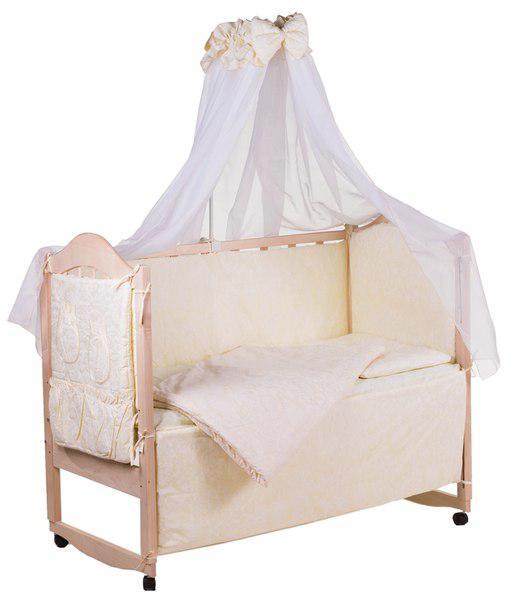 Детская постель Qvatro Gold ZG-08 жаккард  бежевый (однотонная)