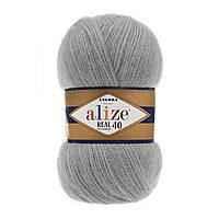 Alize Angora real 40 - 21 серый