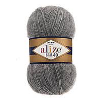 Alize Angora real 40 - 182 средне-серый меланж