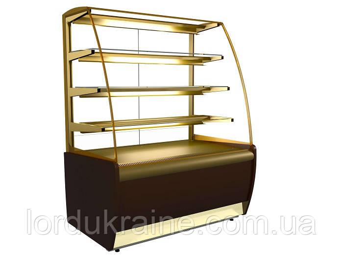 Кондитерская холодильная витрина ВХСв - 1,3д Carboma (ТЕХНО)