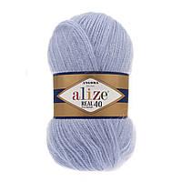 Alize Angora real 40 - 40 голубой