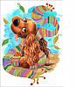 Схема для бисера Радужный щенок