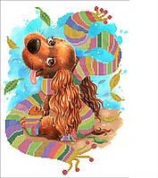 Схема для бисера Радужный щенок, фото 1