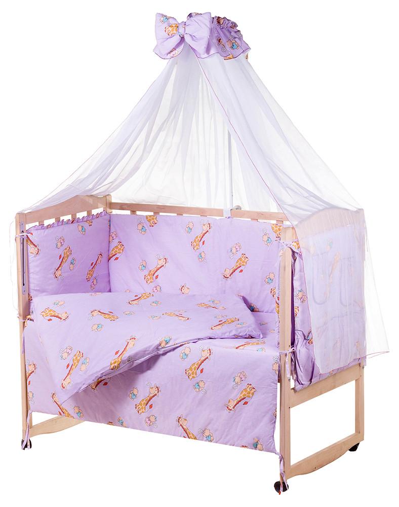 Детская постель Qvatro Gold RG-08 рисунок  сиреневая (жирафик)