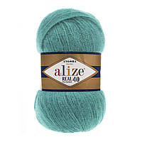 Alize  Angora real 40 - 570 светлый изумруд