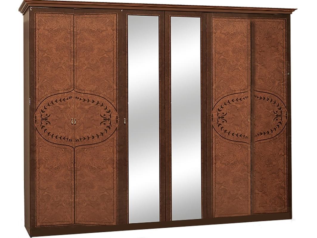 Шафа (шкаф) з ДСП/МДФ в спальню/вітальню/дитячу 6-д Опера горіх Світ Меблів