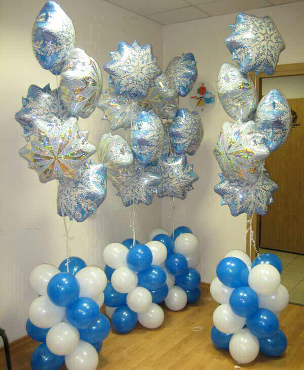 Новогодние воздушные (гелиевые) шарики в Днепре