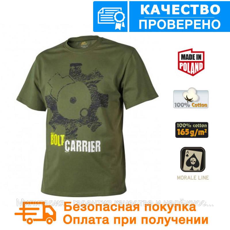 Мужская хлопковая футболка T-Shirt Helikon Bolt Carrier - US Green (TS-BCR-CO-29) L, XXL, XXXL