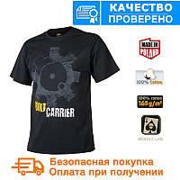 Мужская хлопковая футболка T-Shirt Helikon Bolt Carrier - Black (TS-BCR-CO-01)