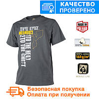 Мужская хлопковая футболка T-shirt Helikon Travel Advice: Mozambique Shadow Grey(TS-TAM-CO-35)