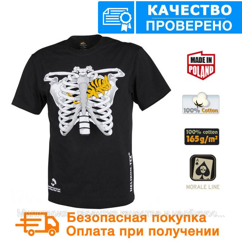 Мужская хлопковая футболка Helikon T-SHIRT (CHAMELEON IN THORAX) Black L, XL, XXL, XXXL (TS-CIT-CO-01)