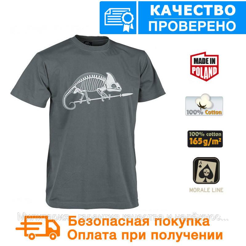 Мужская хлопковая футболка Helikon Chameleon Skeleton Shadow Grey  (TS-SKC-CO-35) XL