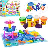 Детский Набор для творчества Пластилин MK 1125Кексы 5 цветов, формочки, аксессуары