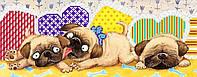 Схема для бисера Баловни (щенки, мопсики), фото 1