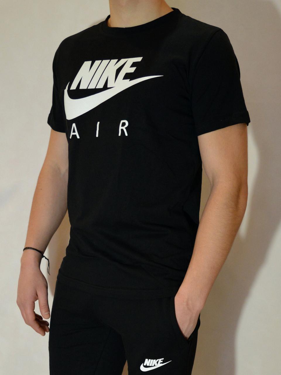 e606eae4d822b Чёрная мужская футболка Nike (Найк) AIR   100 % хлопок, размеры: 44 ...